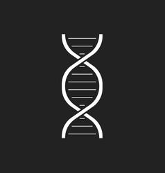 dna icon medecine molecule flat vector image