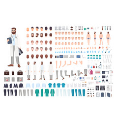 Doctor character constructor male creation vector