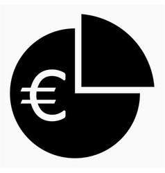 Euro dividend icon vector
