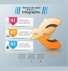 Euro icon business infographics vector