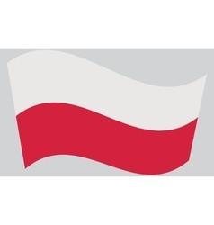 Flag of Poland waving vector