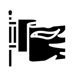 Flag pirate glyph icon vector