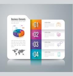 Folder infographics design with 4 options vector