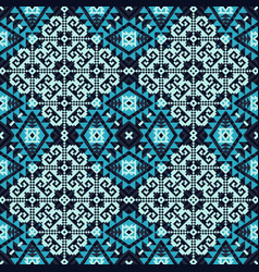 geometric snowflakes pattern vector image