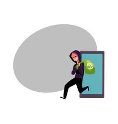 Hacker stealing money cybercrime internet fraud vector