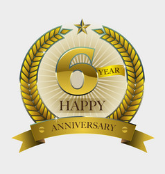 Happy anniversary vector