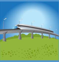 High-speed commuter train vector