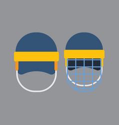 Hockey helmet vector