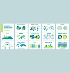 infographic charts for presentation business vector image