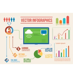 Infographics 2 vector image