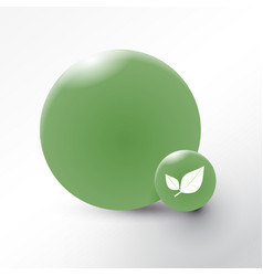 Leaf icon on green circle background vector