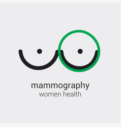 Mammography logo will prevent appearance of breast vector