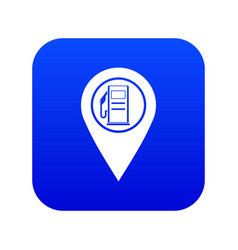 Map pointer with gas station symbol icon digital vector
