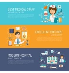 Medical Banner Set vector image