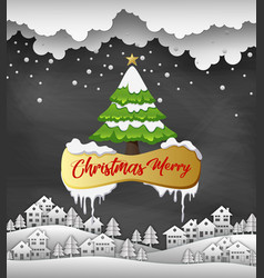 merry christmas and happy new year 2019 on black b vector image
