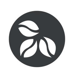 Monochrome round coffee icon vector image