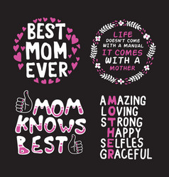 mother day saying quote set 100 best for print vector image