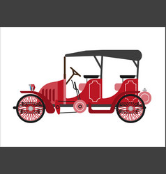 old car or vintage retro collector coach cab vector image