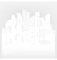 paper sityscape vector image