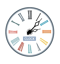 Retro Abstract Clock Face vector