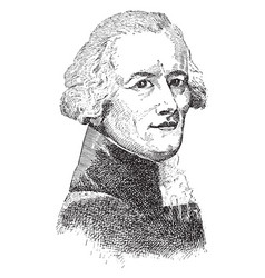 Robespierre vintage vector