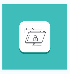 round button for encryption files folder network vector image