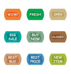 sale promotion tear banner sticker label set vector image