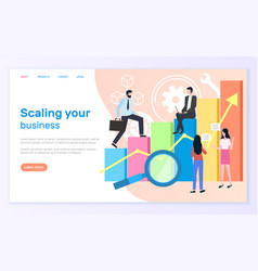 Scaling business graphic or chart entrepreneurs vector