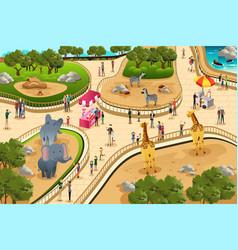 Scene in a zoo vector