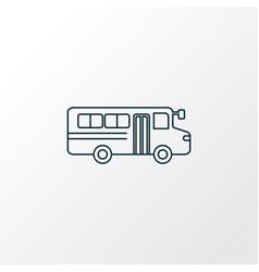 School bus icon line symbol premium quality vector