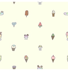 Seamless of colorful tasty ice cream vector image vector image