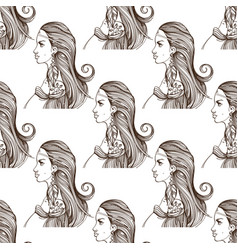 seamless pattern with the image of a beautiful vector image