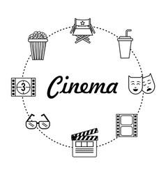 Set cinematography tools production studio vector