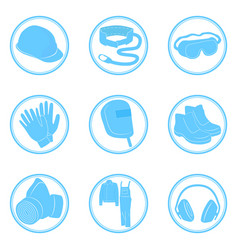 set of icons personal protective equipment vector image