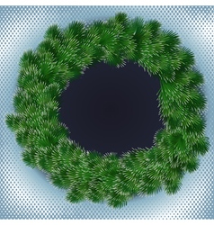 Spruce wreath vector