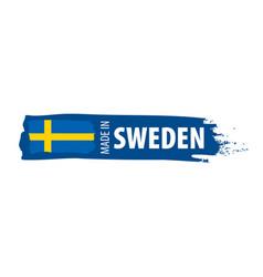 Sweden flag on a white vector