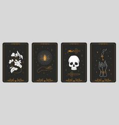 tarot cards boho banners vintage spiritual signs vector image