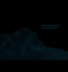 Technology background in blue colors warp surface vector