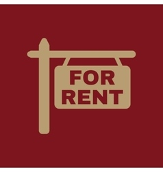 The for rent icon Rent symbol Flat vector
