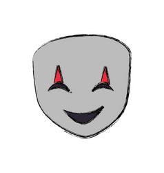 theatre mask smiling vector image