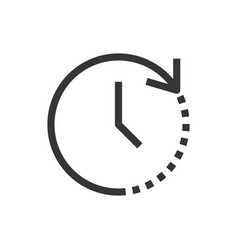 Time and clock line style isolated icon vector