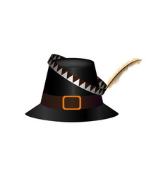 Traditional thaksgiving hat vector