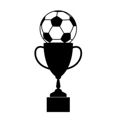trophy soccer silhouette vector image