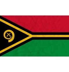 Vanuatu paper flag vector image