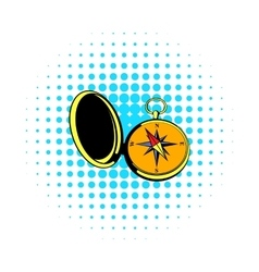 Vintage compass icon comics style vector image vector image