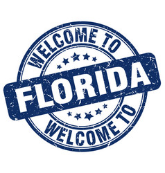 Welcome to florida vector