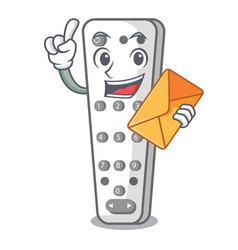 With envelope cartoon infrared remote control for vector