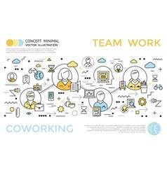 Coworking Horizontal Concept vector image vector image