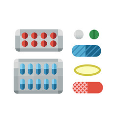 Tablets pills medicine medical on white background vector