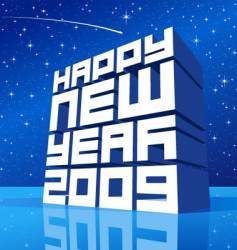 Christmas card 2009 vector image vector image